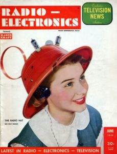 Radio Hat 40ies 50ies electronics vintage ad