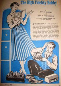 Speaker advertisements 1950ies 1955 vintage loudspeaker